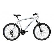 Bicicleta Capriolo Monitor FS Amort alb/negru 46 cm