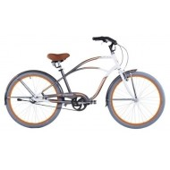 """Bicicleta Capriolo Ibiza 26"""" alb/argintiu/portocaliu 47 cm"""