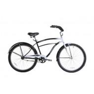 Bicicleta Capriolo Cruiser 26 alb/negru 47 cm