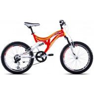 Bicicleta Capriolo CTX 200 20 alb/portocaliu/galben
