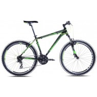Bicicleta Capriolo Monitor FS Amort negru/verde neon 46 cm