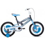 Bicicleta Capriolo Mustang 16 gri/albastru/alb