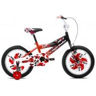 Bicicleta Capriolo Kid Boy 16 negru/rosu/alb