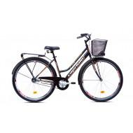 Bicicleta Capriolo Amsterdam Lady 28 negru/gri/rosu 47 cm