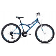 Bicicleta Capriolo 26 Diavolo 600 FS negru/albastru 48 cm