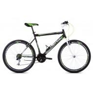 Bicicleta Capriolo Passion Man alb/negru/verde neon 53 cm