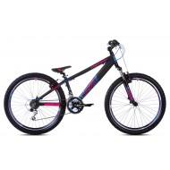 Bicicleta Capriolo Fireball 26 negru/roz/albastru 33 cm