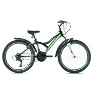 Bicicleta Capriolo 24 Diavolo 400 FS negru/verde