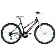 Bicicleta Capriolo Passion Lady negru/alb/roz 43 cm