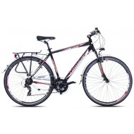 Bicicleta Capriolo Touring Roadster black-red 23
