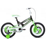 Bicicleta Capriolo Mustang 16 negru/verde/alb