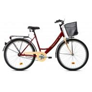 Bicicleta Capriolo Paris Lady 26 crem/bordo 48 cm