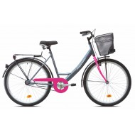 Bicicleta Capriolo Paris Lady 26 roz/gri 48 cm