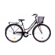 Bicicleta Capriolo Amsterdam Lady 28 black-grey-red 18.5