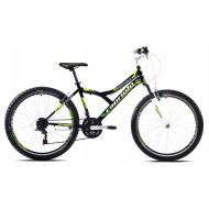 Bicicleta Capriolo 26 Diavolo 600 FS negru/verde 43 cm