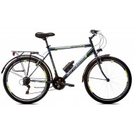 Bicicleta Capriolo Metropolis Man 26 gri/verde 53 cm