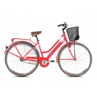 Bicicleta Capriolo Amsterdam Lady 28 red-steel 18.5