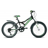 Bicicleta Capriolo 20 Diavolo 200 FS negru/verde