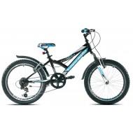 Bicicleta Capriolo 20 Diavolo 200 FS negru/albastru
