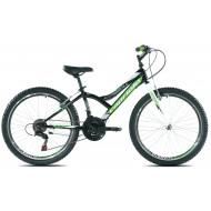 Bicicleta Capriolo 24 Diavolo 400 negru/verde