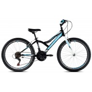Bicicleta Capriolo 24 Diavolo 400 negru/albastru