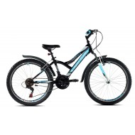Bicicleta Capriolo 24 Diavolo 400 FS black-blue
