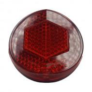 Reflectorizant spate roșu rotund