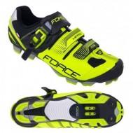 Pantofi FORCE MTB Hard Force negru-fluorescent mărime 38