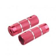 Peguri aluminiu ZOOM BMX 110mm (Ø10mm) roşu