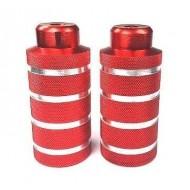Peguri aluminiu 10x40x110mm (filet Ø10mm) roșu