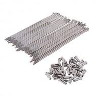 Spiță+niplu oțel - argintiu