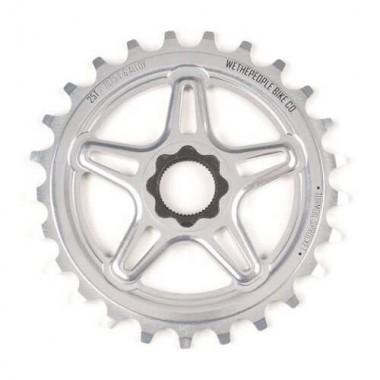 Foaie angrenaj BMX WTP Turmoil 14 Spline Drive 25T argintiu