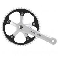 Angrenaj pedalier M-WAVE - ax pătrat - single speed argintiu