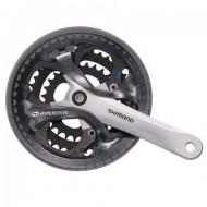 Angrenaj pedalier SHIMANO Acera FC-M361 - pătrat - 3x7/8V - Apărătoare 170 mm / 42x32x22T / argintiu
