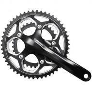 Angrenaj pedalier SHIMANO 105 FC-RS500 - hollowtech - 2x11V 165 mm / 46x36T / negru