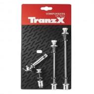 Set ax cu strângere rapidă antifurt TRANZ-X argintiu