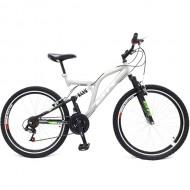"""Bicicleta BR Thunder 26"""" cu suspensie - argintiu"""