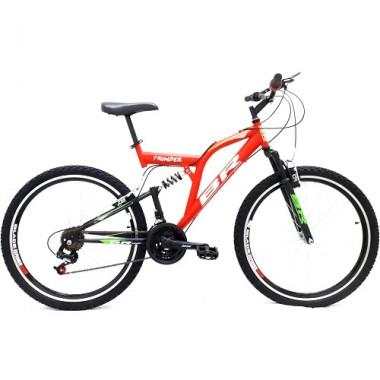 """Bicicleta BR Thunder 26"""" cu suspensie - rosu"""