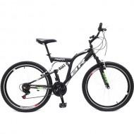"Bicicleta BR Thunder 26"" cu suspensie - negru"
