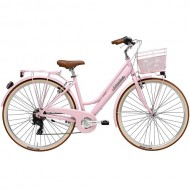 """Bicicleta ADRIATICA Panda Lady 26"""" 6V roz 42 cm"""