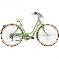 "Bicicleta ADRIATICA 18 Danish Lady 28"" 6V verde 48 cm"
