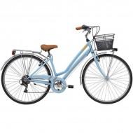 """Bicicleta ADRIATICA 18 Trend Lady 28"""" 6V albastru 45 cm"""