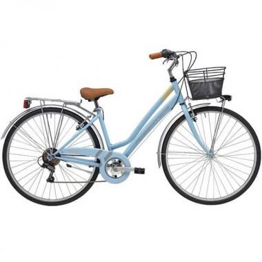 """Bicicleta ADRIATICA Trend Lady 28"""" 6V albastru 45 cm"""