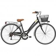 """Bicicleta ADRIATICA 18 Trend Lady 28"""" 6V negru 45 cm"""