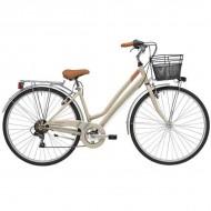 "Bicicleta ADRIATICA 18 Trend Lady 28"" 6V nisipiu 45 cm"