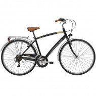 """Bicicleta ADRIATICA 18 Trend Man 28"""" 6V negru 50 cm"""