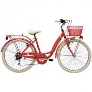 "Bicicleta ADRIATICA Panda Lady 26"" 6V coral 42 cm"