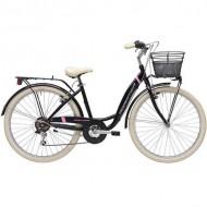 """Bicicleta ADRIATICA 18 Panda Lady 26"""" 6V negru 42 cm"""
