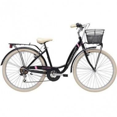 """Bicicleta ADRIATICA Panda Lady 26"""" 6V negru 42 cm"""