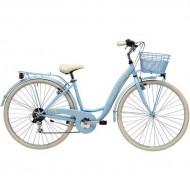 """Bicicleta ADRIATICA 18 Panda Lady 28"""" 6V albastru 42 cm"""